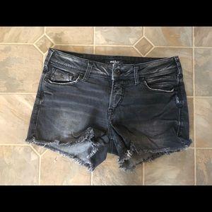 Silver Berkeley Jean Shorts
